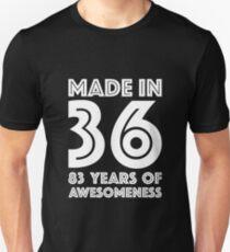 83rd Birthday Gift Adult Age 83 Year Old Men Women Unisex T Shirt
