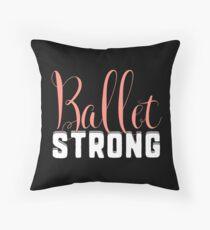 Ballet Strong Dance Teacher or Student for dark square Throw Pillow