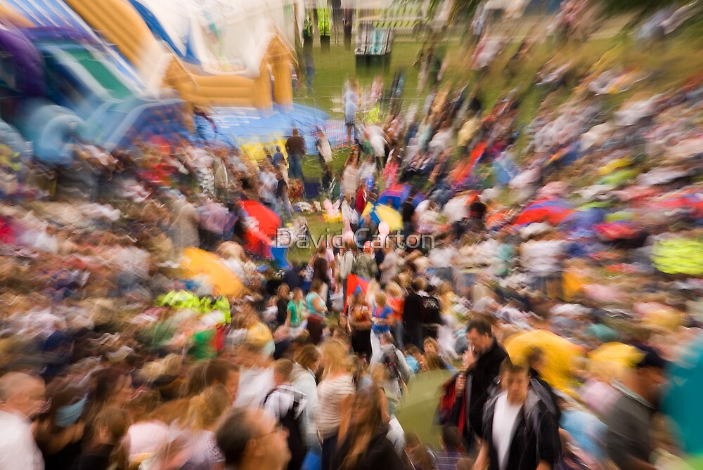 Exploding Crowd by David Carton