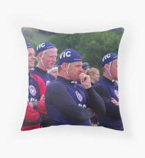 Racing at Penguin (80) Throw Pillow