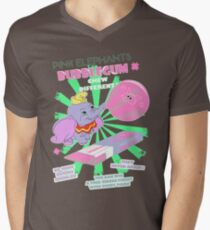 Pink Elephants Bubblegum Men's V-Neck T-Shirt