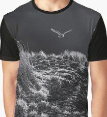 Night Owl - Moonlight Barn Owl in Flight Graphic T-Shirt