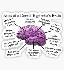 Funny Hygienist's Brain Sticker