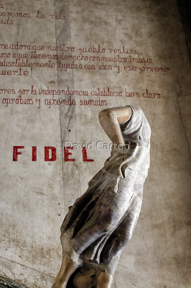 Headless statue at La Guarida, Havana by David Carton