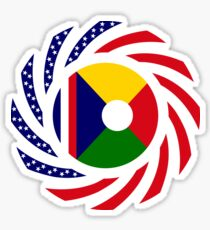 Reunion American Multinational Patriot Flag Series Sticker