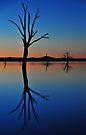 Autumn Sunset Lake Hume by mspfoto