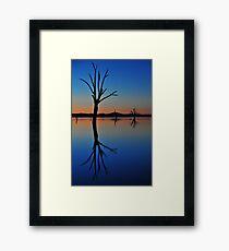 Autumn Sunset Lake Hume Framed Print