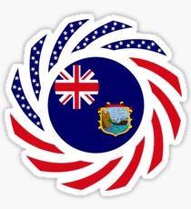 Saint Helena American Multinational Patriot Flag Series Sticker