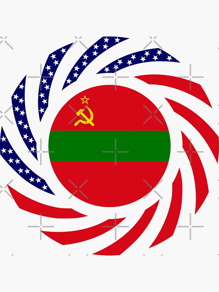 Transnistrian American Multinational Patriot Flag Series by carbonfibreme
