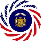 Wisconsin Murican Patriot Flag Series by Carbon-Fibre Media