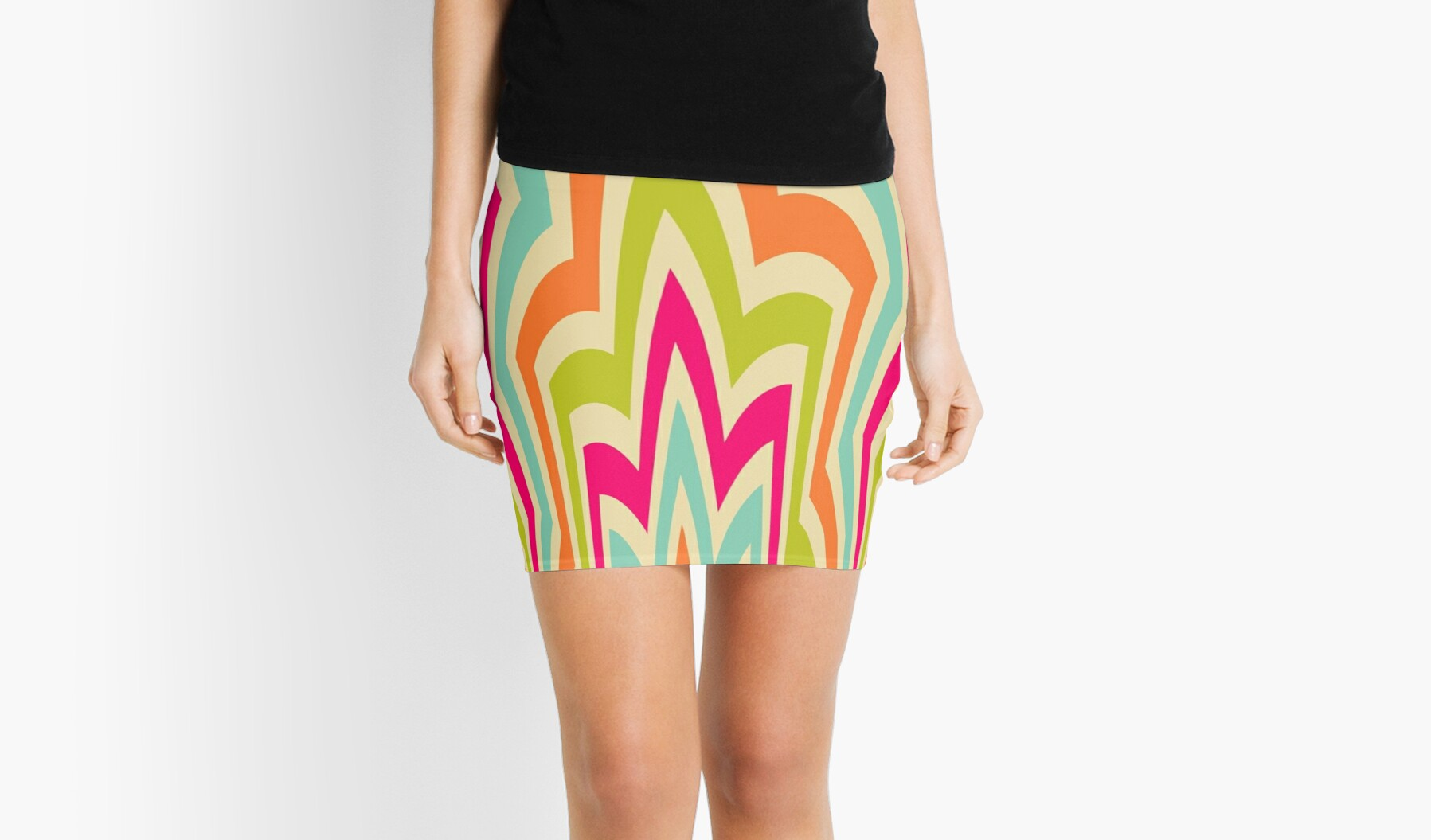 Modern Flame Colorful Pattern by Ricaso