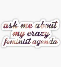 Pegatina Agenda Feminista