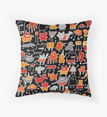 Monsters in the Dark Throw Pillow