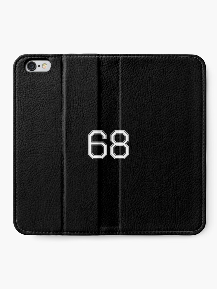 Alternative Ansicht von Nummer 68 American Football Spielernummer Sport Design iPhone Flip-Case