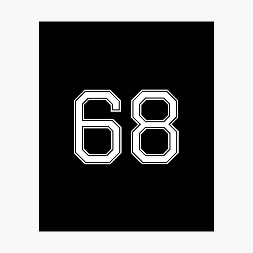 Nummer 68 American Football Spielernummer Sport Design Fotodruck