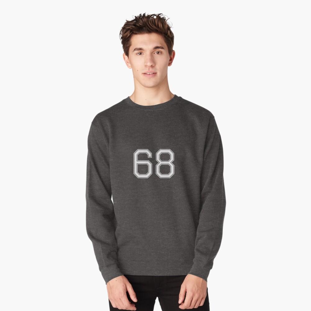 Nummer 68 American Football Spielernummer Sport Design Pullover