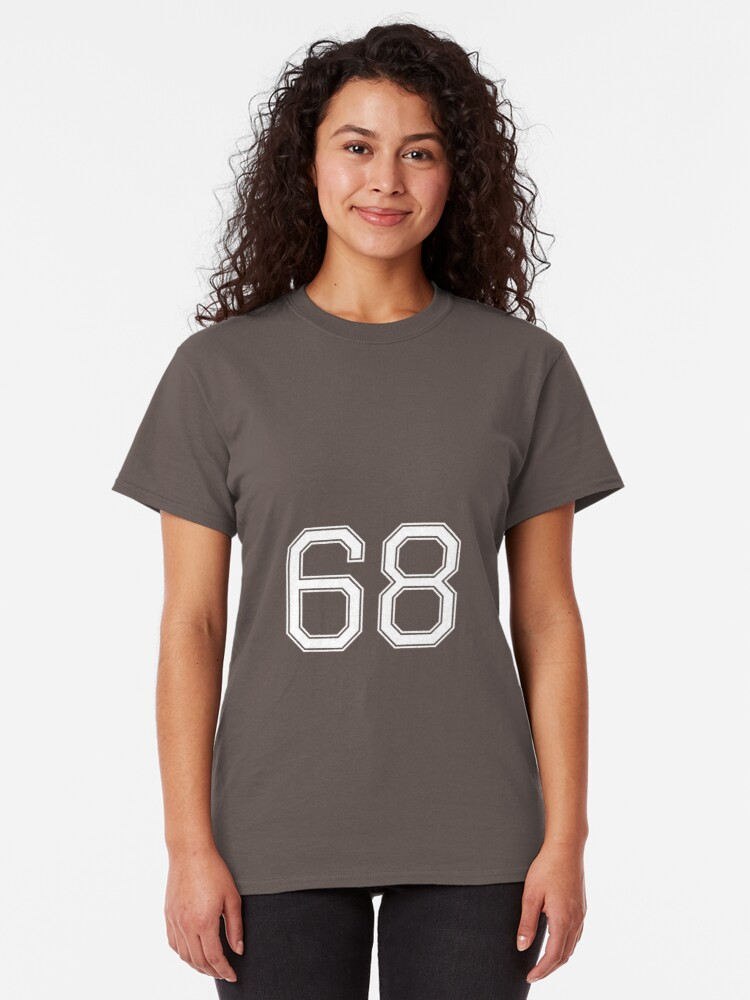 Alternative Ansicht von Nummer 68 American Football Spielernummer Sport Design Classic T-Shirt