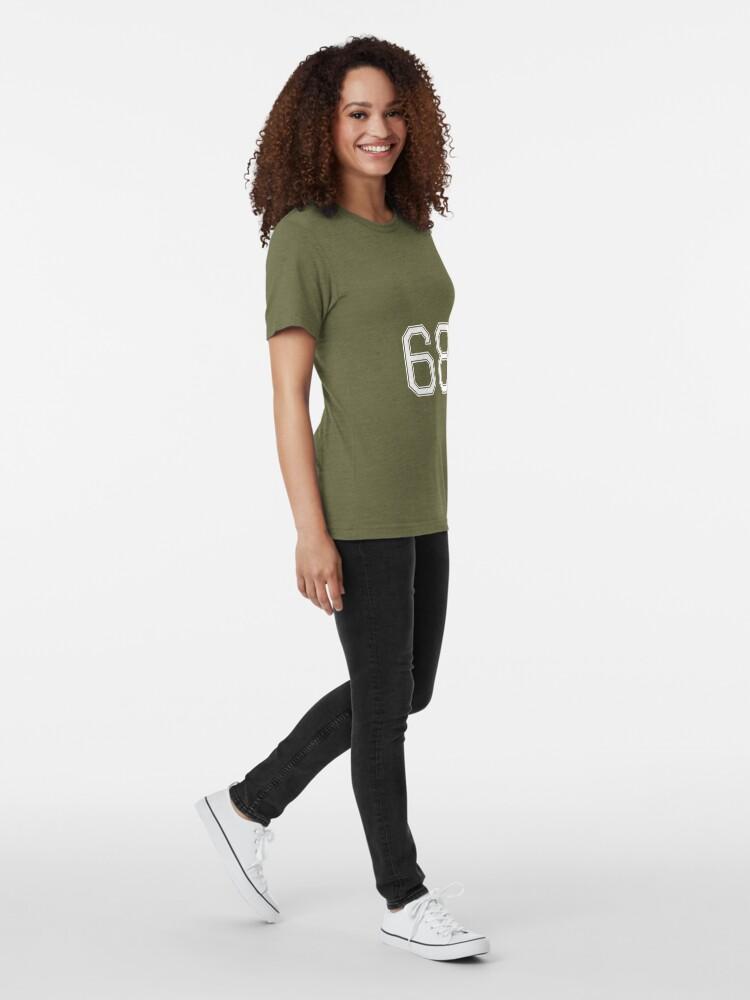 Alternative Ansicht von Nummer 68 American Football Spielernummer Sport Design Vintage T-Shirt