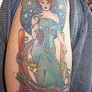 Mucha Tattoo:  Anna McClain artist by izzybeth