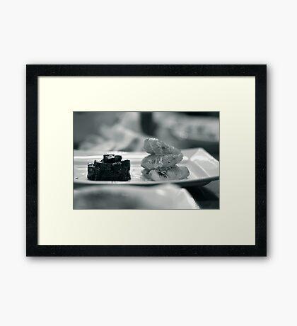 Monkfish and Beetroot Framed Print