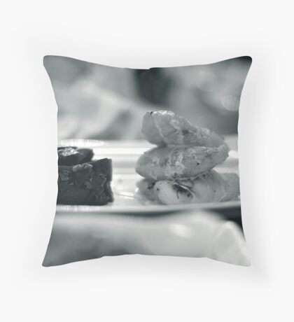 Monkfish and Beetroot Throw Pillow