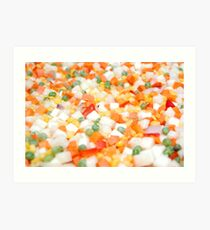 Healthy and Nutritious Mixed vegetables Art Print