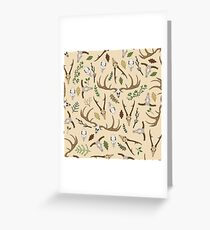 Light ghosts of the forest Greeting Card