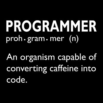 Computer Programmer Organism Converting Caffeine into Code by KanigMarketplac