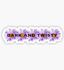 Dunkel und Twisty Sticker
