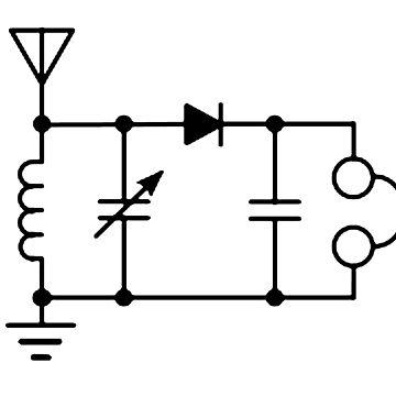Radio ham 'crystal radio circuit'. by timothybeighton