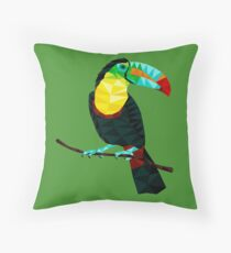 Terry The Toucan Throw Pillow
