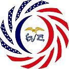 Iowa Murican Patriot Flag Series by Carbon-Fibre Media
