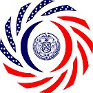 New York City Murican Patriot Flag Series by Carbon-Fibre Media
