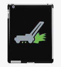 Lawn mower with cut grass iPad Case/Skin