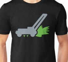 Lawn mower with cut grass Unisex T-Shirt