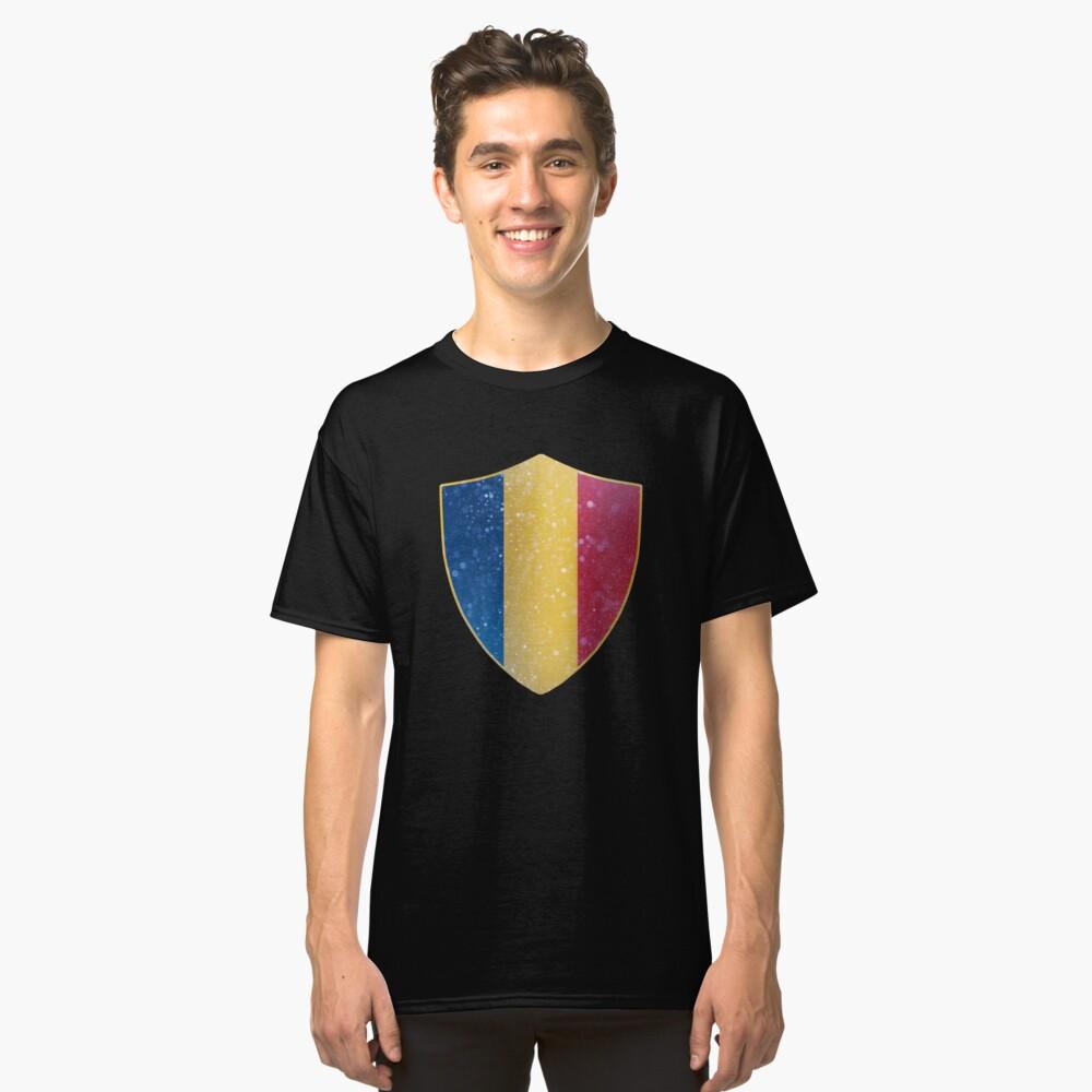 Romania Flag Shield Classic T-Shirt