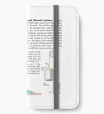 Physics Problems Education Mechanics iPhone Wallet/Case/Skin