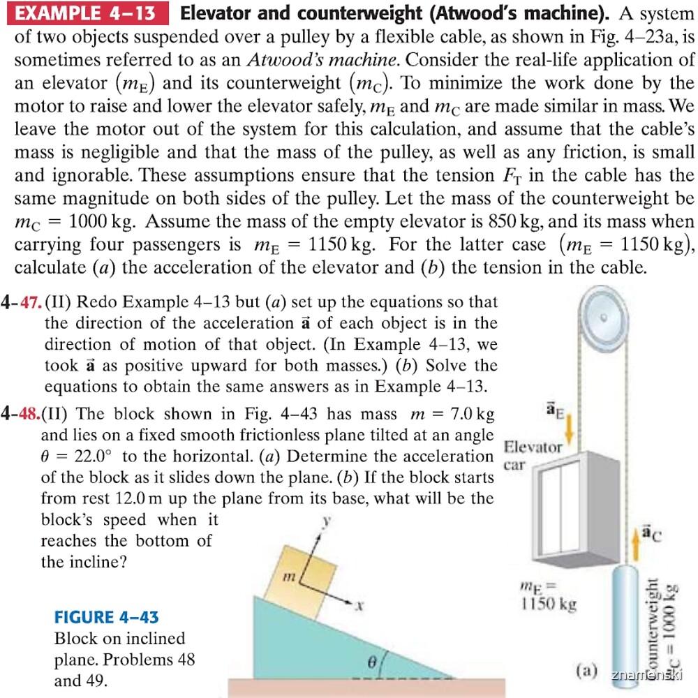 Physics Problems Education Mechanics by znamenski