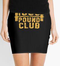 1000-Pfund-Club-T-Shirt Krafttraining für Krafttraining Minirock
