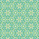 Renewal Mandala Pattern in Green and Yellow by Kelly Dietrich