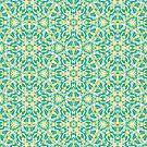 Erneuerungs-Mandala-Muster in Grün und Gelb von Kelly Dietrich