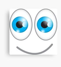 Funny cute wacky BLUE eyes looking with a smile Canvas Print