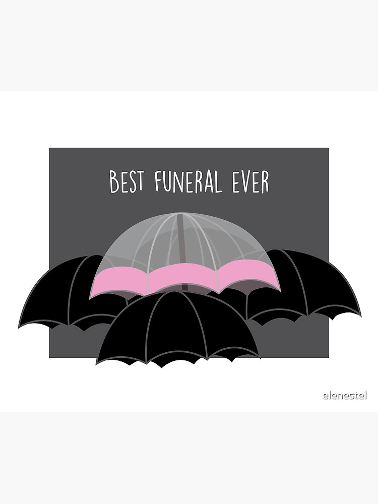 Pink Umbrella- With Text by elenestel