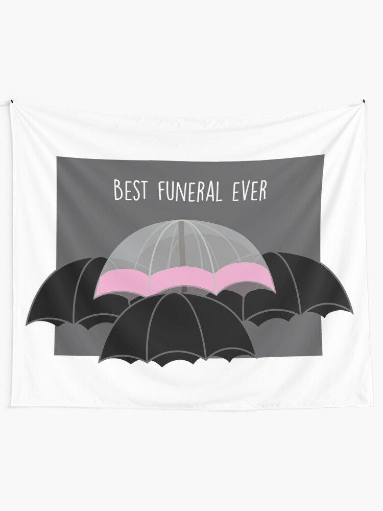 Alternate view of Pink Umbrella- With Text Tapestry