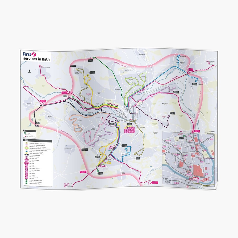 Map Of Uk Hd.Bath South West Bus Map England Uk Hd Poster