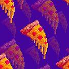 Purple Pizza Pixel Pattern! by TinyNeenja