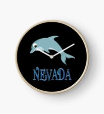 Nevada Dolphin Sticker Clock