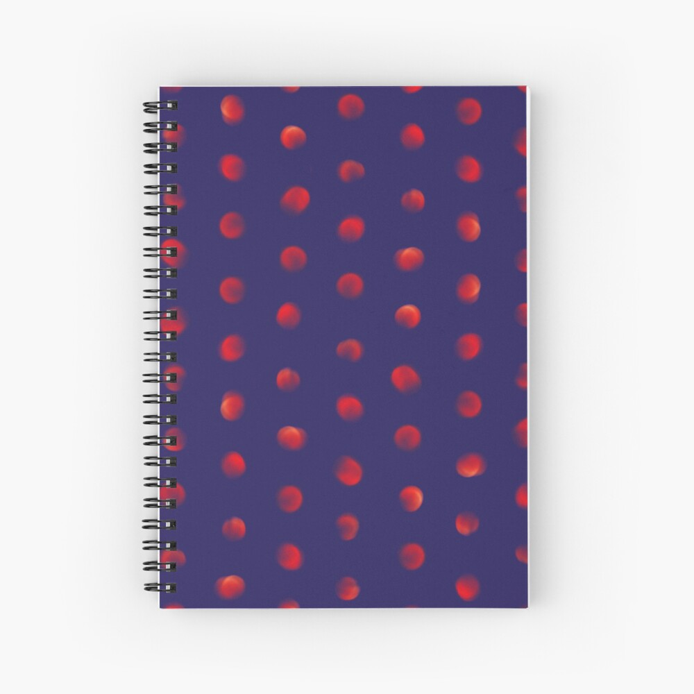 Total eclipse of the polka dot Spiral Notebook