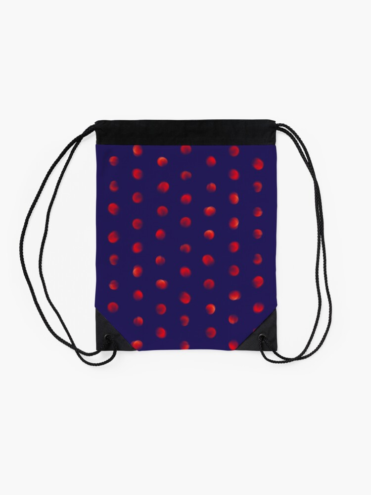 Alternate view of Total eclipse of the polka dot Drawstring Bag