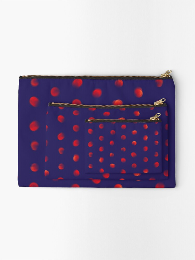 Alternate view of Total eclipse of the polka dot Zipper Pouch